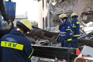 Das Technische Hilfswerk im Einsatz nach einer Gasexplosion