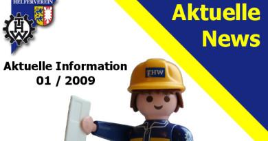 Aktuelle Information 01 / 2009