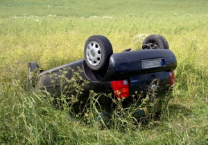Verunfalltes Fahrzeug
