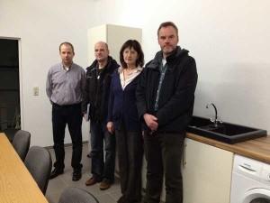 von links nach rechts: Oliver Schatz (Landesschatzmeister), Thomas Puls (Schatzmeister HV Bad Segerg), Editha Mekelnburg (stv. Landesvorsitzende), Udo Petersen (Landessprecher SH)