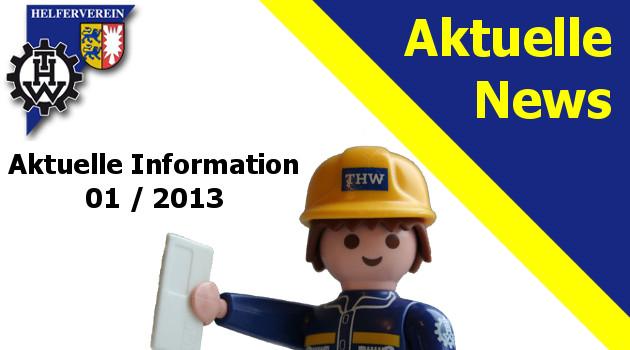 Aktuelle Information 01 / 2013