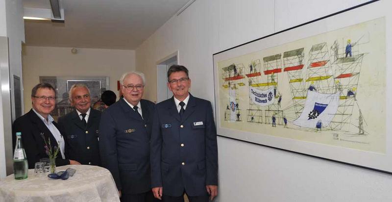 Das Gastgeschenk der THW-Landesvereinigung Schleswig-Holstein in den neuen Räumlichkeiten der Bundesvereinigung