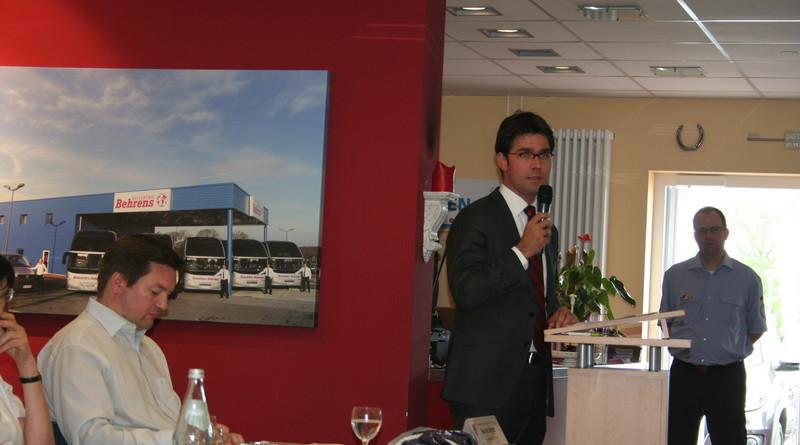 Der neue 2. Vorsitzende Mark Helfrich (MdB) bei seiner Vorstellung