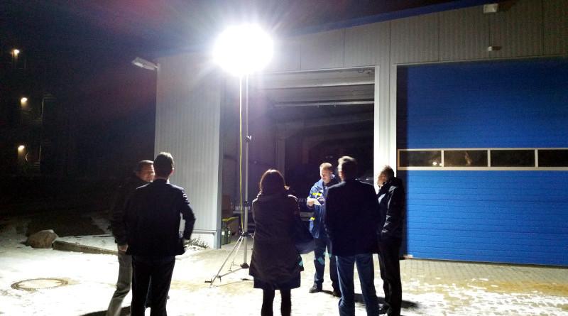 Präsentation des LED-Beleuchtungssystems bei der Vorstandssitzung am 18.01.2016