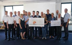 Spendenübergabe bei der VR Bank Flensburg-Schleswig eG